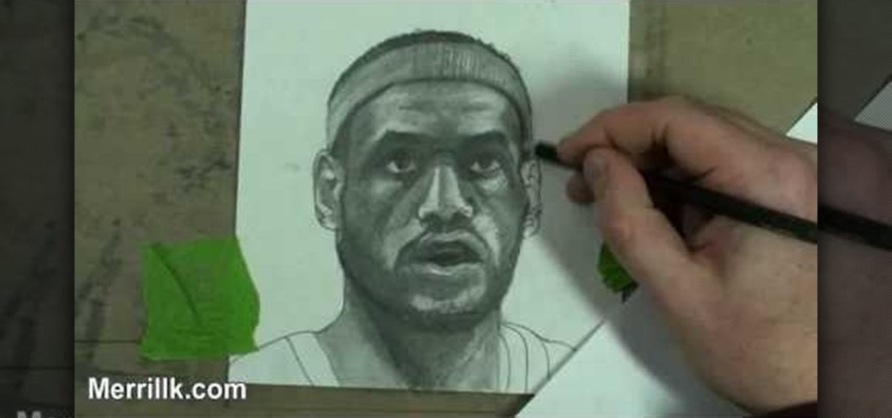 how to draw a laberon james