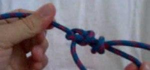 Tie a bowline backup knot