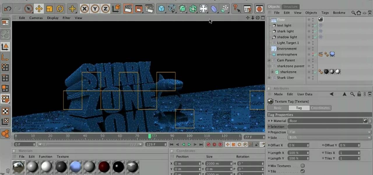 How to Make a reflective floor for an underwater scene in