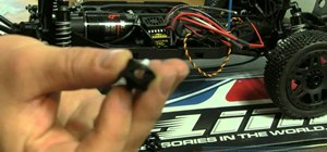 Install 17mm hex adapters into a short course truck