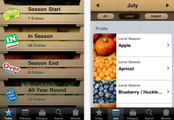 5 Useful Apps & Charts for Choosing Seasonal Produce