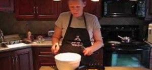 Bake a traditional peach cobbler dessert