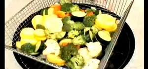 Start a charcoal grill & grill vegetables