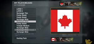 Make the Canadian Flag as your emblem in Call of Duty: Black Ops