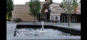 Weightlessly walk on water (a parkour-style illusion)