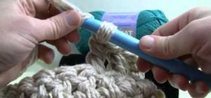 Execute a triple crochet stitch with extreme crochet