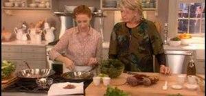 Saute winter greens with Martha Stewart
