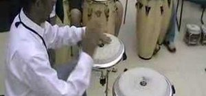 Play a basic conga drum sequence