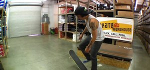 Stick a hardflip on a skateboard
