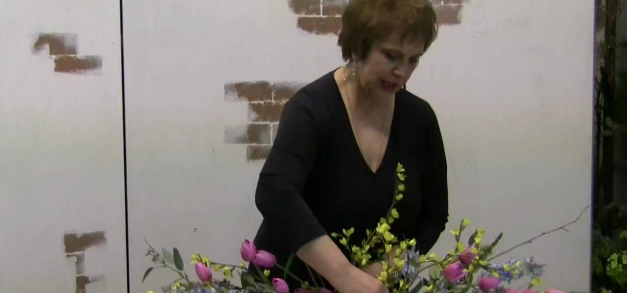 How to make a spring swag with silk flowers flower arrangement how to make a spring swag with silk flowers flower arrangement wonderhowto mightylinksfo