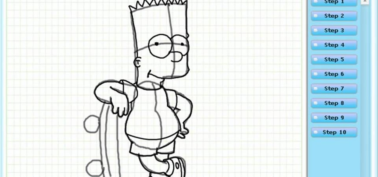 Draw Bart Simpson (the Simpsons)