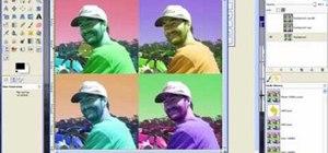 Create an Andy Warhol pop art effect in GIMP