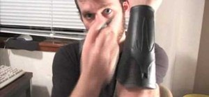 Make leather bracers and belt for an Altair Assassin's Creed or other costume