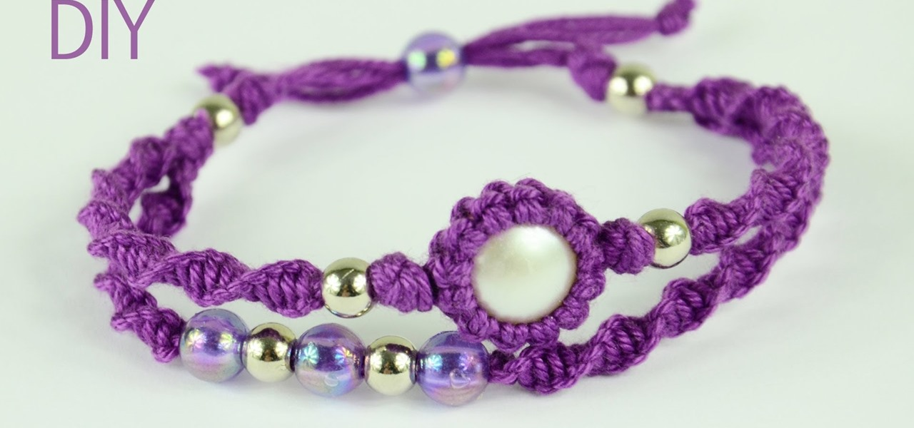 Make a Macrame Double Bracelet