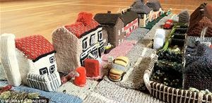 English Ladies Knit Entire Village