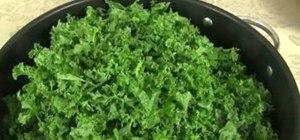 Cook spicy seasoned kale easily