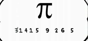 Remember and recite pi to eight decimal places