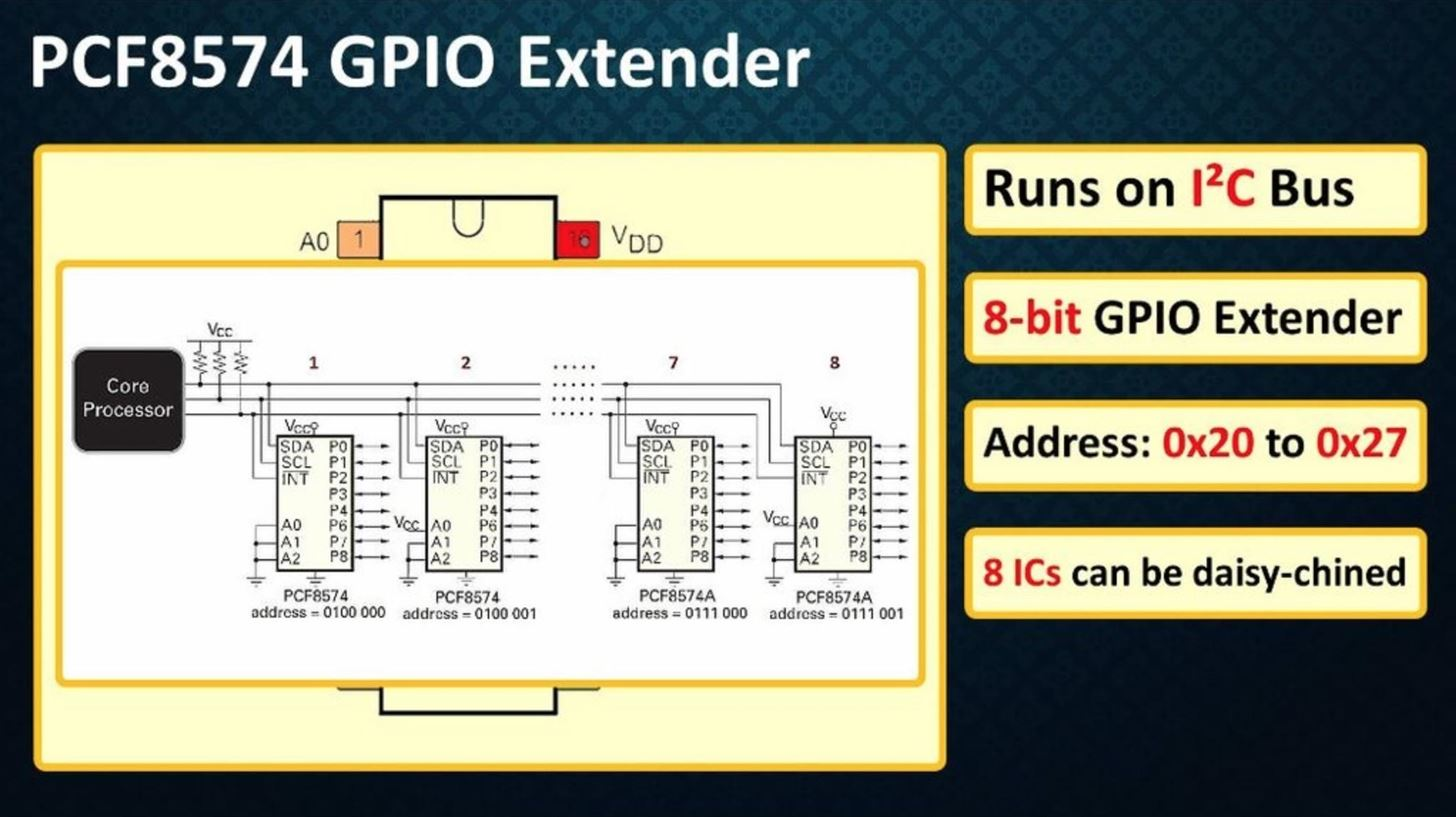 PCF8574 GPIO Extender - with Arduino and NodeMCU