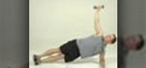 Tone abs with a side-bridge reach exercise