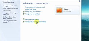Turn off User Account Control in Windows 7