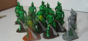 Make an army of miniature lizard warriors