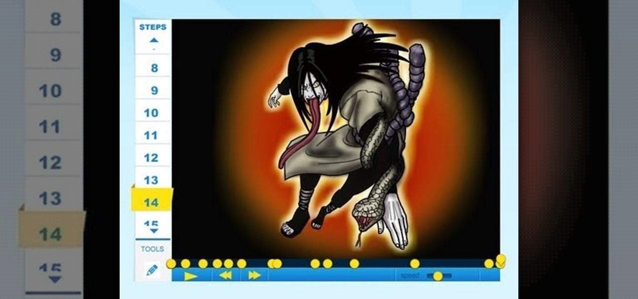 Draw Orochimaru (Naruto)