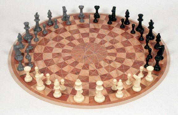 Checkmate and... Checkmate: Bizarre Three-Way Chess Game