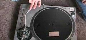 Fix a stuck platter on a Technics SL1200