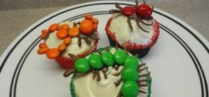 Make easy bug-decorated cupcakes for Halloween