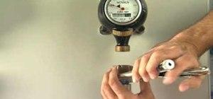 Install an airless water valve