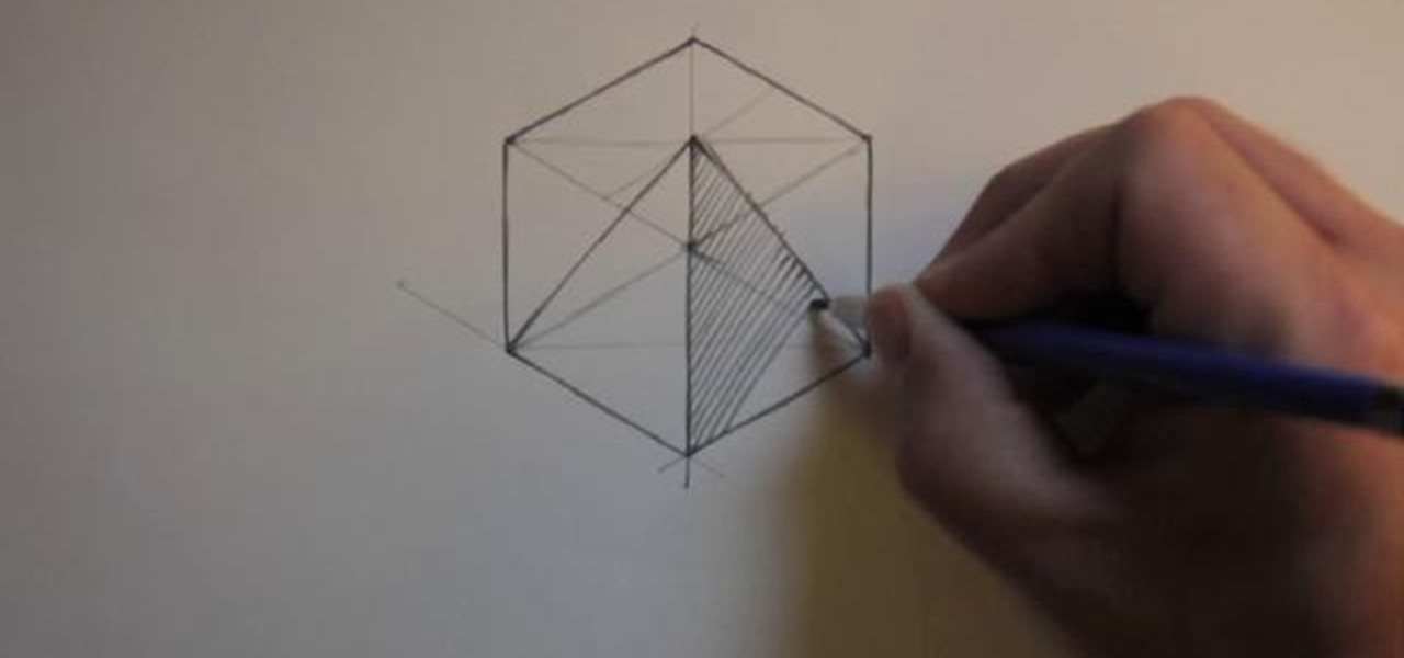 How to Draw an isometric pyramid inside a cube « Drawing ...