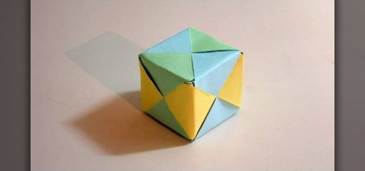 How to Make a cube from folded paper with origami « Origami