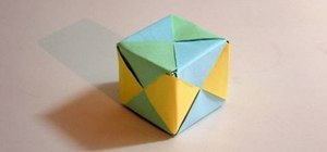 Make a cube from folded paper with origami