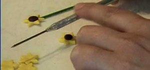 Make mini sunflowers for a dollhouse