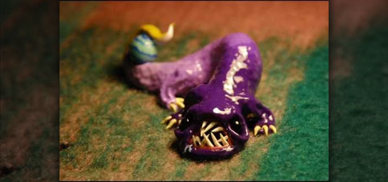 how to sculpt a purple clay electric eel 171 sculpture