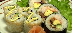Make futomaki sushi & California rolls
