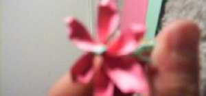 Make a paper rose with construction paper
