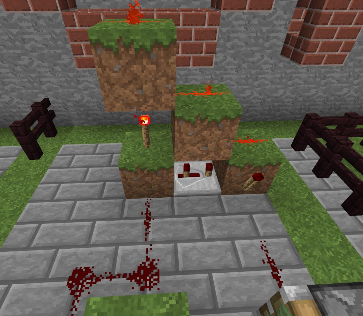 Wonderful image of 20 Tricks You Didn't Know You Could Do in Minecraft « Minecraft with #BF2A0C color and 1182x1028 pixels