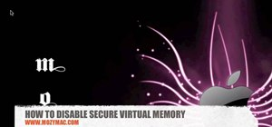Disable secure virtual memory in Mac OS X