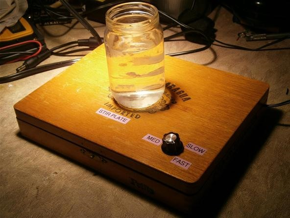 DIY Lab Equipment: Make a Magnetically Controlled Cigar Box Stir Plate