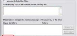 Create an Out of Office message with Outlook