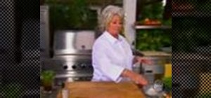 Make a grilled veggie pizza with Paula Deen