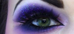 Create a naughty dramatic purple eye makeup look