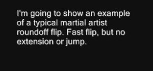 Do a side flip and not a double leg