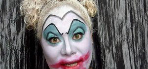 Create a Disney's Ursula/scary clown makeup look for Halloween