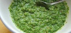 Make almond arugula pesto