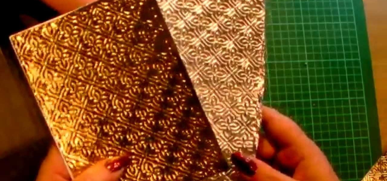 Use Kitchen Foil with Your Embossing Folders