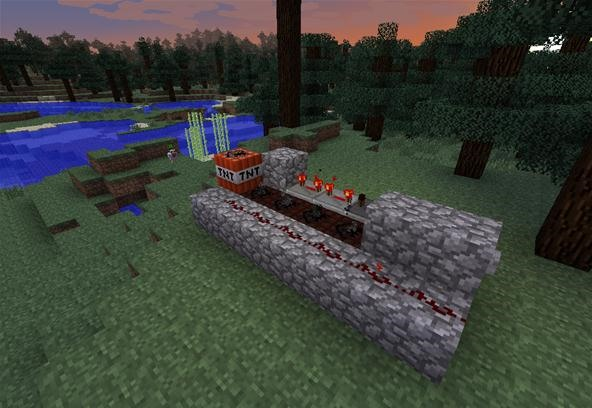 How to Build a TNT Cannon in Minecraft