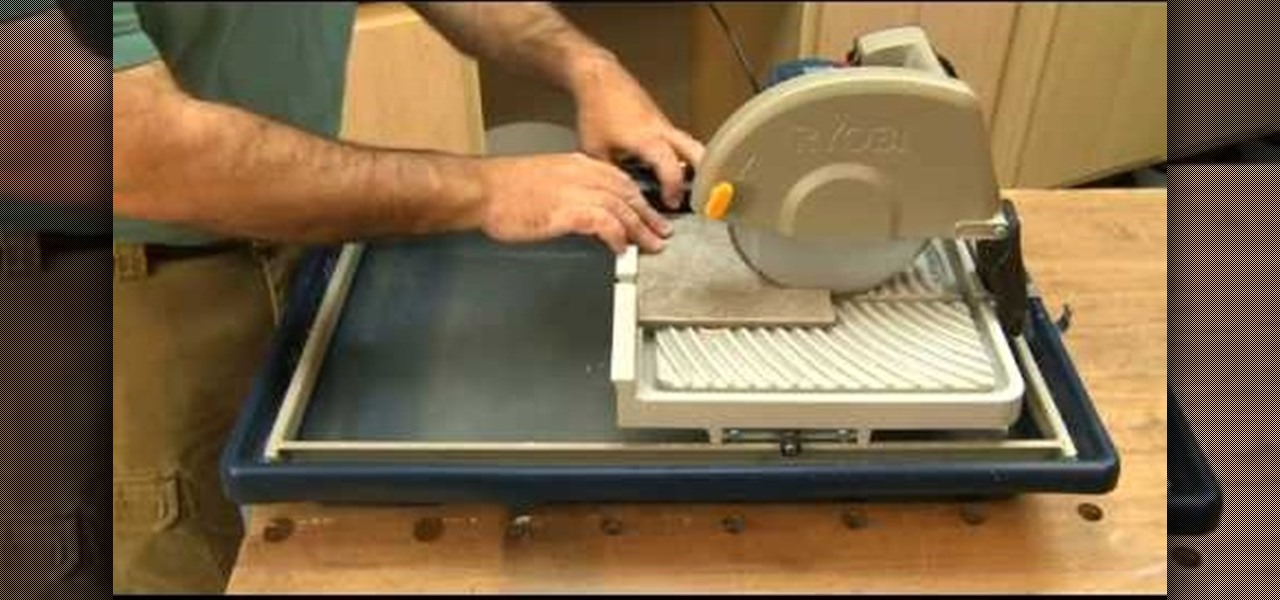 How To Use A Wet Saw To Cut Tile 171 Tools Amp Equipment