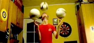 Kid Juggles Soccer Balls Like a Circus Seal